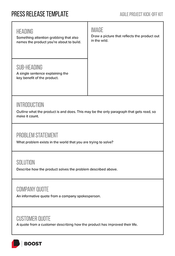 Thumbnail of the Press Release template. Click to get a PDF of the template.